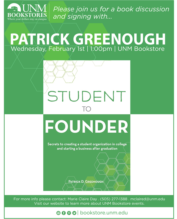 Student to Founder Book Signing at UNM Bookstore